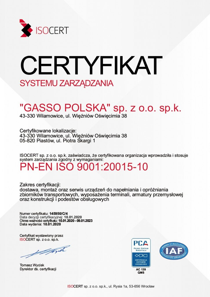 ISO GASSO PL